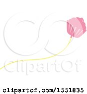 Clipart Of A Cupcake Balloon Royalty Free Vector Illustration