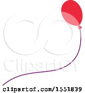 Clipart Of A Balloon Royalty Free Vector Illustration