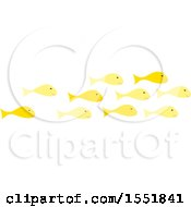 Clipart Of A School Of Fish Royalty Free Vector Illustration by Cherie Reve