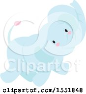 Poster, Art Print Of Cute Blue Baby Elephant