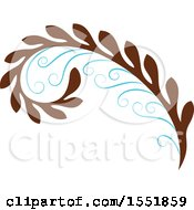 Clipart Of A Flourish Design Royalty Free Vector Illustration