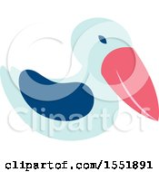 Clipart Of A Cute Pelican Royalty Free Vector Illustration