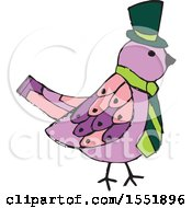 Clipart Of A Bird Wearing A Tie Royalty Free Vector Illustration