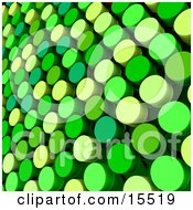 Abstract Background Of Green And Yellow Colored Dots Clipart Illustration Image
