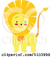 Clipart Of A Cute Male Lion Royalty Free Vector Illustration by Cherie Reve