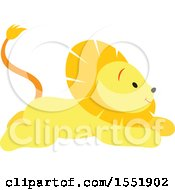Clipart Of A Cute Male Lion Royalty Free Vector Illustration