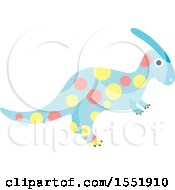 Clipart Of A Polka Dot Dinosaur Royalty Free Vector Illustration