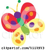 Clipart Of A Colorful Butterfly Royalty Free Vector Illustration