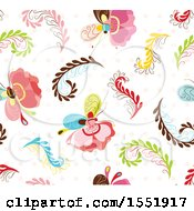 Clipart Of A Butterfly Pattern Royalty Free Vector Illustration