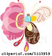 Clipart Of A Butterfly Royalty Free Vector Illustration
