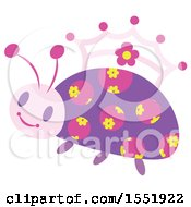 Clipart Of A Crowned Ladybug Princess Royalty Free Vector Illustration