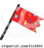Clipart Of A Car Racing Flag Royalty Free Vector Illustration by Cherie Reve