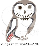 Clipart Of A Cute Owl Forest Animal Royalty Free Vector Illustration