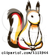 Clipart Of A Cute Squirrel Forest Animal Royalty Free Vector Illustration by Cherie Reve