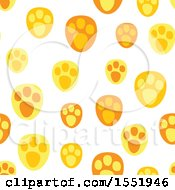Clipart Of A Cute Animal Paw Print Pattern Royalty Free Vector Illustration