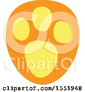 Clipart Of A Cute Animal Paw Print Royalty Free Vector Illustration
