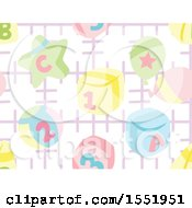 Clipart Of A Baby Toy Pattern Royalty Free Vector Illustration by Cherie Reve