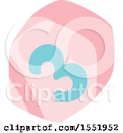 Clipart Of A Baby Toy Block Royalty Free Vector Illustration by Cherie Reve