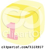 Clipart Of A Baby Toy Block Royalty Free Vector Illustration