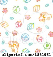 Clipart Of A Number And Alphabet Pattern Royalty Free Vector Illustration