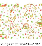 Clipart Of A Gingerbread Cookie Pattern Royalty Free Vector Illustration