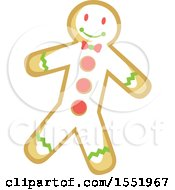 Clipart Of A Gingerbread Man Royalty Free Vector Illustration