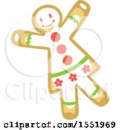Clipart Of A Gingerbread Woman Royalty Free Vector Illustration