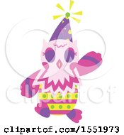 Clipart Of A Birthday Party Owl Royalty Free Vector Illustration by Cherie Reve