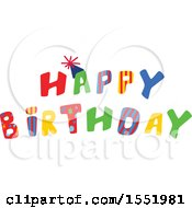 Clipart Of A Happy Birthday Design Royalty Free Vector Illustration