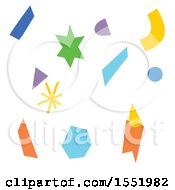 Clipart Of Party Confetti Royalty Free Vector Illustration
