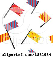 Clipart Of A Car Racing Flag Pattern Royalty Free Vector Illustration by Cherie Reve