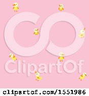 Clipart Of A Cute Pink Baby Bird Pattern Royalty Free Vector Illustration