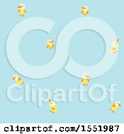 Clipart Of A Cute Blue Baby Bird Pattern Royalty Free Vector Illustration