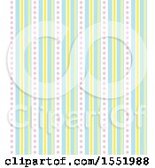 Clipart Of A Dot And Stripe Pattern Royalty Free Vector Illustration