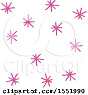 Clipart Of A Purple Star Pattern Royalty Free Vector Illustration