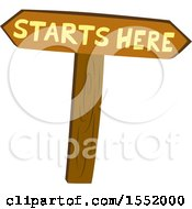 Wood Starts Here Sign