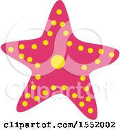 Clipart Of A Pink Starfish Royalty Free Vector Illustration