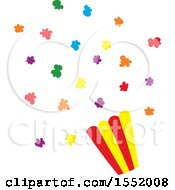 Clipart Of Rainbow Popcorn Royalty Free Vector Illustration