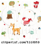 Clipart Of A Cute Forest Animal Pattern Royalty Free Vector Illustration