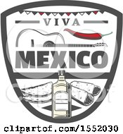 Clipart Of A Retro Styled Cinco De Mayo Design Royalty Free Vector Illustration