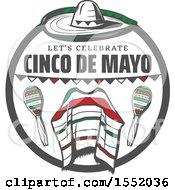 Cinco De Mayo Design With A Sombrero Poncho And Maracas