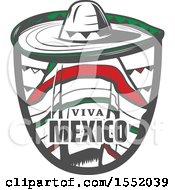 Cinco De Mayo Viva Mexico Design With A Sombrero And Poncho