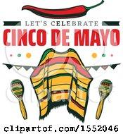Cinco De Mayo Viva Mexico Design With A Poncho