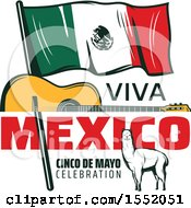 Clipart Of A Retro Styled Cinco De Mayo Design Royalty Free Vector Illustration by Vector Tradition SM