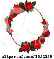 Poster, Art Print Of Red Rose Frame Design