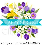 Spring Flower Design With Text