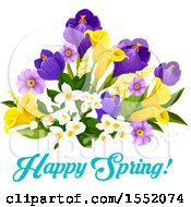 Poster, Art Print Of Spring Flower Design With Text