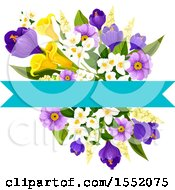 Poster, Art Print Of Spring Flower And Banner Design Element