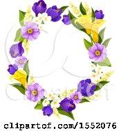Poster, Art Print Of Spring Flower Frame Design Element