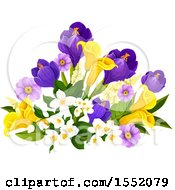 Spring Flower Design Element